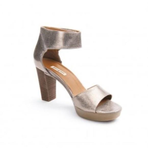 1ec081ea874 Paul Green | Metallic silver pewter sandal heels. M_5b478f792e147808e295cf31